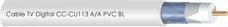 CENTER CABLE 001005 Cable TV digital CC-CU113 A/A LTE-4G PVC blanco (En carrete de 100m)