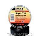 Cinta Scotch super 33+6x19 PVC negro con referencia 33619 de la marca 3M ELECTRICOS.
