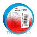 Cinta Temflex 1500 19mmx20m pvc azul rollo con referencia 7000062292 de la marca 3M ELECTRICOS.