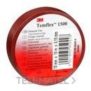 Cinta Temflex 1500 19mmx20m pvc marron rollo con referencia 7000062293 de la marca 3M ELECTRICOS.