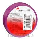 Cinta Temflex 1500 19mmx20m pvc violeta rollo con referencia 7000062300 de la marca 3M ELECTRICOS.