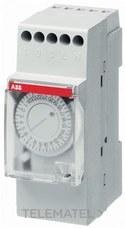 INTERRUPTOR HORARIO AT2-R 2 MODULOS SIN RESERVA 150h con referencia 2CSM204115R0601 de la marca ABB-ENTRELEC.