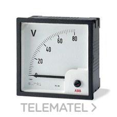 VOLTIMETRO VLM 1-500 CORRIENTE ALTERNA, FONDO ESCALA 500V con referencia 2CSM110220R1001 de la marca ABB-ENTRELEC.