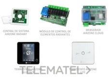 Pack RADIANT365 cable 2 termostatos blanco+WSERVER con referencia AZRA6BFSC2BW de la marca AIRZONE.