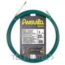 PASACABLES ANGUILA MAX 3mm FIBRA DE VIDRIO+NYLON 22m VERDE con referencia 35030022 de la marca ANGUILA.