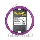 PASACABLES ANGUILA MAX 4mm ACERO +NYLON 12m LILA con referencia 65040012 de la marca ANGUILA.