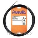 PASACABLES FIJO FLEXIBLE NYLON 3mm 5m NEGRO con referencia 14103005 de la marca ANGUILA.