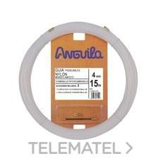 ANGUILA 12004015 PASACABLES INTERCAMB.NYLON 4mm 15m NAT.