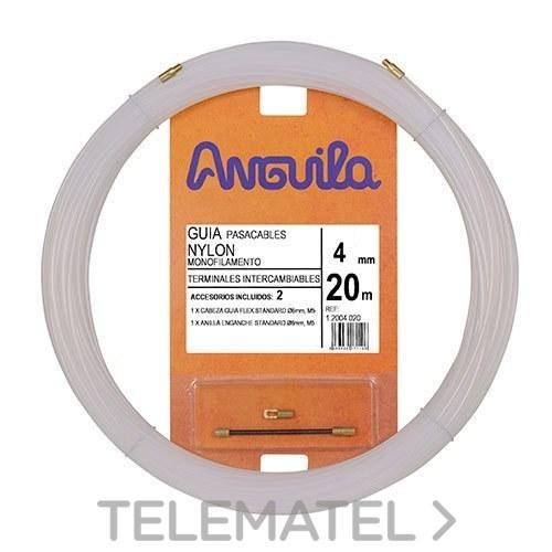 PASACABLES INTERCAMBIABLE NYLON 4mm 20m NATURAL con referencia 12004020 de la marca ANGUILA.