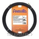 PASACABLES POLIESTER TRIPLE TRENZA DIAMETRO 4mm 20m NEGRO con referencia 70400020 de la marca ANGUILA.