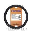 PASACABLES POLIESTER TRIPLE TRENZA DIAMETRO 4mm 30m NEGRO con referencia 70400030 de la marca ANGUILA.