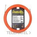 Trenza monofilamento poliéster Anguila Max diámetro 4,5mm 14m con nuevos terminales diámetro 5mm fijos con lazo, color naranja con referencia 75145014 de la marca ANGUILA.