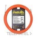Trenza monofilamento poliéster Anguila Max diámetro 4,5mm 21m con nuevos terminales diámetro 5mm fijos con lazo, color naranja con referencia 75145021 de la marca ANGUILA.