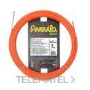 Trenza monofilamento poliéster Anguila Max diámetro 4,5mm 7m con nuevos terminales diámetro 5mm fijos con lazo, color naranja con referencia 75145007 de la marca ANGUILA.
