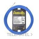 Trenza triple poliéster Anguila Max diámetro 4,5mm 14m con nuevos terminales diámetro 5mm fijos con lazo, color azul con referencia 75045014 de la marca ANGUILA.