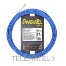 Trenza triple poliéster Anguila Max diámetro 4,5mm 21m con nuevos terminales diámetro 5mm fijos con lazo, color azul con referencia 75045021 de la marca ANGUILA.
