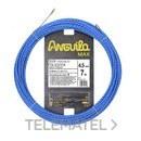 Trenza triple poliéster Anguila Max diámetro 4,5mm 7m con nuevos terminales diámetro 5mm fijos con lazo, color azul con referencia 75045007 de la marca ANGUILA.