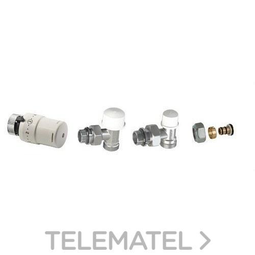 Kit válvula termostática M28 escuadra + manguito + junta 16mm multicapa con referencia KCT33 de la marca ARCO.