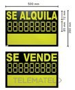 CARTEL SE VENDE/SE ALQUILA 50x35 2 COLOR con referencia SEP01-T1 de la marca ARREGUI.