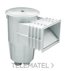 ASTRALPOOL 00249 Skimmer 15l boca stándar tapa circular presión blanco