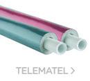 Tubería aislada 25x2,5 espesor 10mm MULTIPEX PEX/AL/PEX azul (Rollo 50m) con referencia MULPTAA252550 de la marca BARBI.