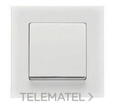 Tecla embellecedor cromo I-SYS serie DELTA MIRO blanco polar con referencia 5TG62705CW00 de la marca BJC.