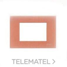 Legrand//Bticino Placa 3 m/ódulos titanio claro