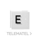 Rótulo MALTA metacrilato transparente 8x8cm negro con referencia 71221 de la marca BTV.