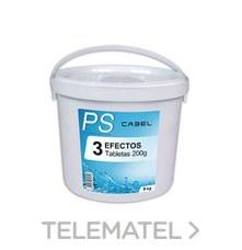 CLORO CABEL PS 3 EFECTO TABLETA 200g 5Kg con referencia CA0905 de la marca CABEL.