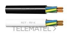 CABLES RCT 6203015015 Cable Araflex RV-K 0,6/1Kv 3G1,5 negro (rollo 100m)