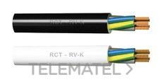 CABLES RCT 6203025015 Cable Araflex RV-K 0,6/1Kv 3G2,5 negro (rollo 100m)