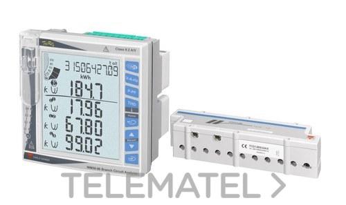 Analizador de potencia multicanal para sistemas monofásicos, bifásicos y trifásicos 400V-5A con referencia WM50AV53HBC de la marca CARLO GAVAZZI.