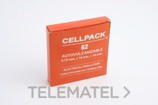 CINTA AUTOVULCANIZABLE NUMERO 62 0,75mm con referencia 752050 de la marca CELLPACK.