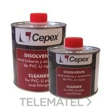 Bote disolvente-limpiador 500cc con referencia 02432 de la marca CEPEX.