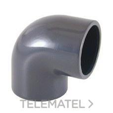 Codo 90° encolar PVC diámetro 200 con referencia 01724 de la marca CEPEX.