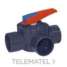 Válvula compuerta rotativo 3 vías diámetro 50-63 con referencia 15765 de la marca CEPEX.