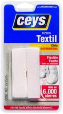 Adhesivo CEYS cremallera textil blanco (blíster) con referencia 501106 de la marca CEYS.