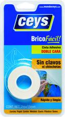 Adhesivo doble cara CEYS BRICOFÁCIL 15mm 2m (blíster) con referencia 500801 de la marca CEYS.