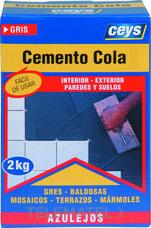 Cemento cola CEYS 2Kg (caja) con referencia 502501 de la marca CEYS.