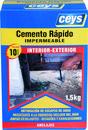 Cemento rápido CEYS impermeable 1,5Kg (caja) con referencia 502505 de la marca CEYS.
