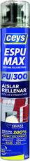 Espuma de poliuretano ESPUMAX para aislar y rellenar 750ml (En pistola) con referencia 504803 de la marca CEYS.