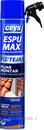 Espuma de poliuretano ESPUMAX para fijación y montaje 750ml (canula) con referencia 504809 de la marca CEYS.