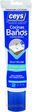 Sellador acrílico SELLACEYS cocina y baños 135ml translucido (tubo) con referencia 505707 de la marca CEYS.