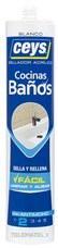 Sellador acrílico SELLACEYS cocina y baños 280ml blanco (cartucho) con referencia 505701 de la marca CEYS.
