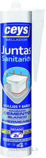 Sellador juntas CEYS TOP baños y azulejos blanco 290ml (bote) con referencia 505611 de la marca CEYS.