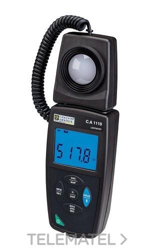 Luxómetro registrador CA1110 Bluetooth y USB. Válido para fuentes LED y fluorescencia con referencia P01654110 de la marca CHAUVIN ARNOUX.