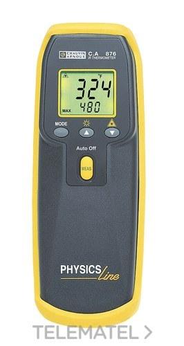 Termómetro infrarrojos CA876 10:1 con puntero láser, entrada termopar tipo K y emisividad variable con referencia P01651403Z de la marca CHAUVIN ARNOUX.