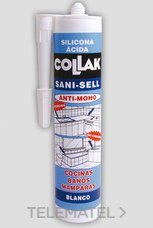 COLLAK 40802 SILICONA ACIDA SANI-SELL BLANCO 300ml