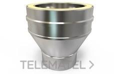 Adaptador caldera cónico TWPro diámetro 100 con referencia KWAD10100 de la marca CONVESA.