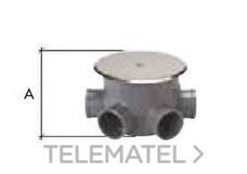 CREARPLAST 060140 Bote sifónico PVC C-140 110mm con tapa diámetro 40x50
